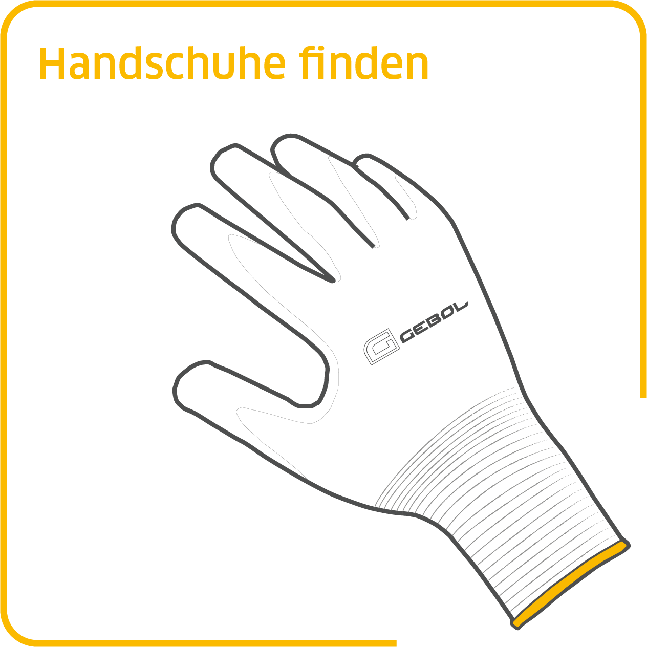 Piktogramme Website Handschuhe Orange