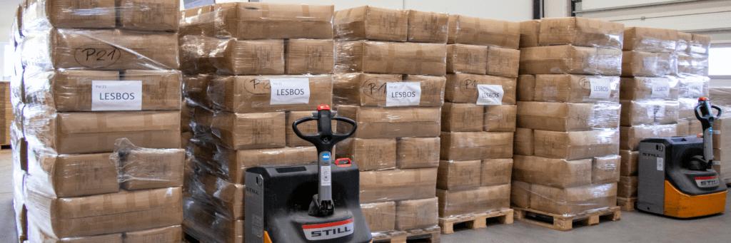 Im Kampf gegen Kälte schickt GEBOL Hilfsgüter nach Lesbos